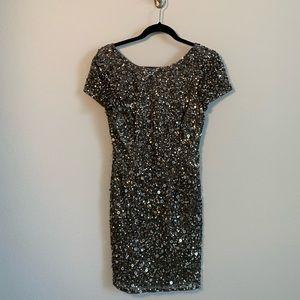 Adriana Papell Sequin Mini Dress Size 6
